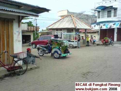 Becak in Pinkong/Pangkal Pinang 2008
